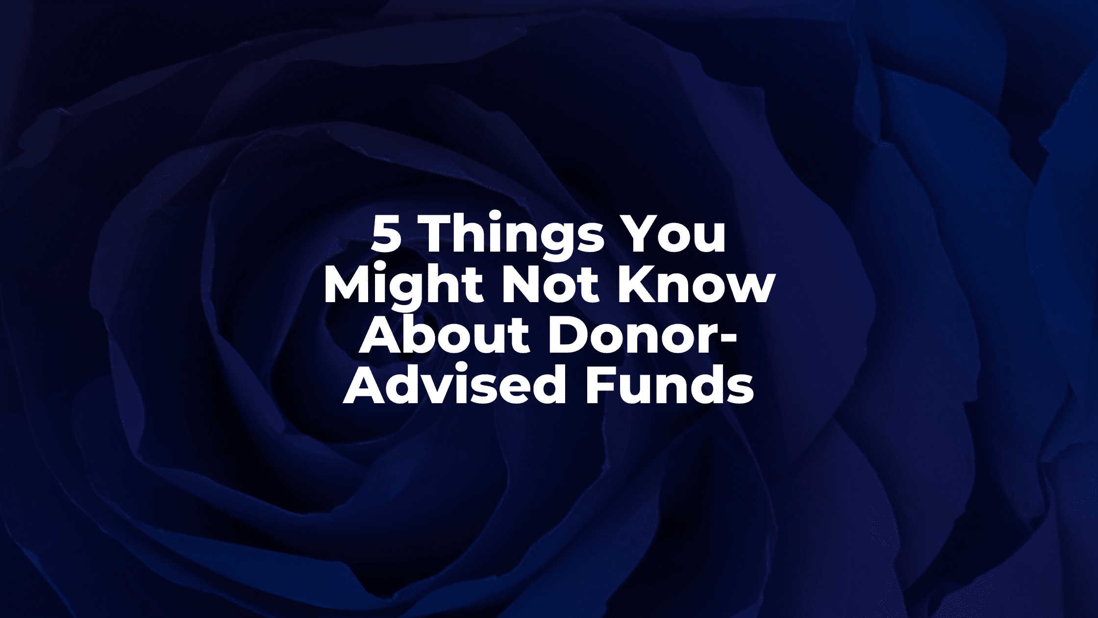 5 Things You Might Not Know About Donor-Advised Funds