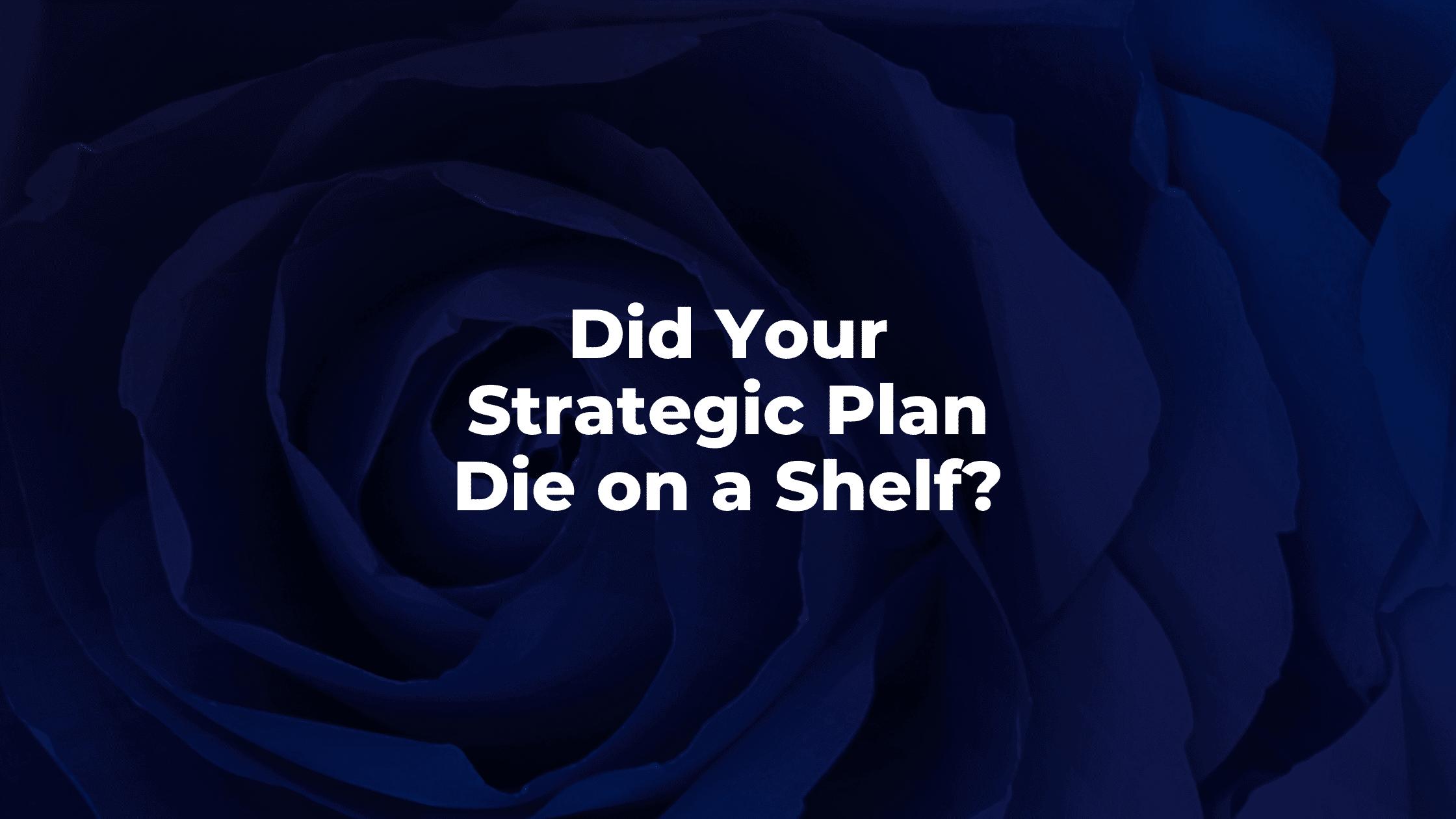 Did Your Strategic Plan Die on a Shelf