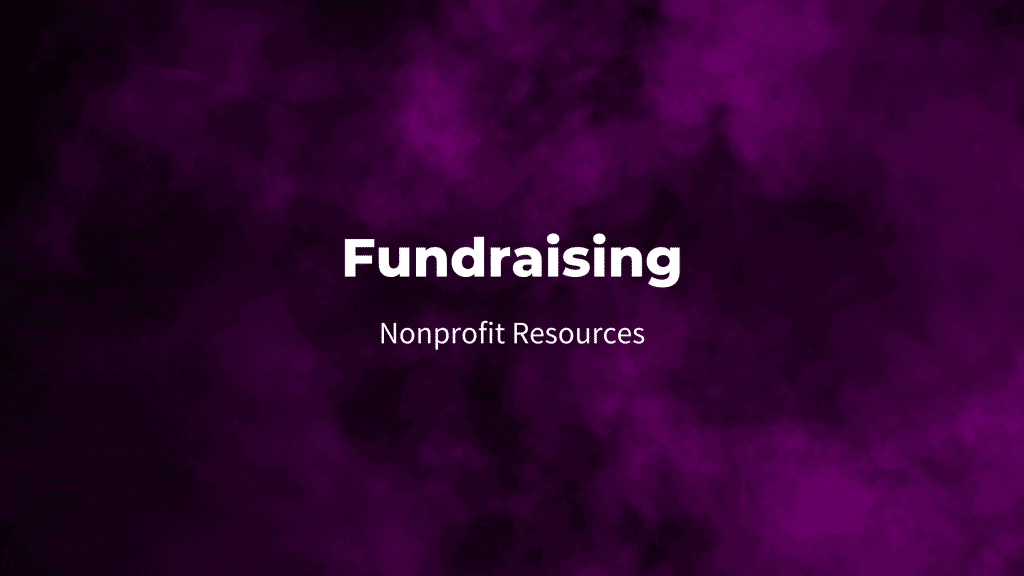 Fundraising nonprofit resources